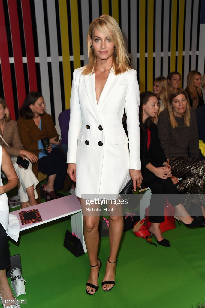 Actress Amber Valletta attends the Escada - Front Row during New York Fashion Week on September 9, 2018 in New York City.