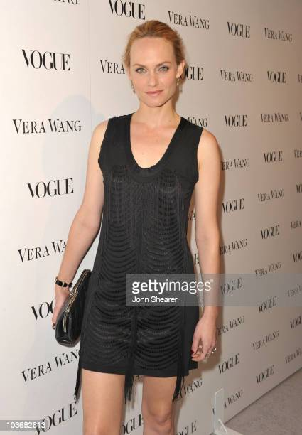 Actress Amber Valletta attends the Vera Wang Store Launch at Vera Wang Store on March 2 2010 in Los Angeles California