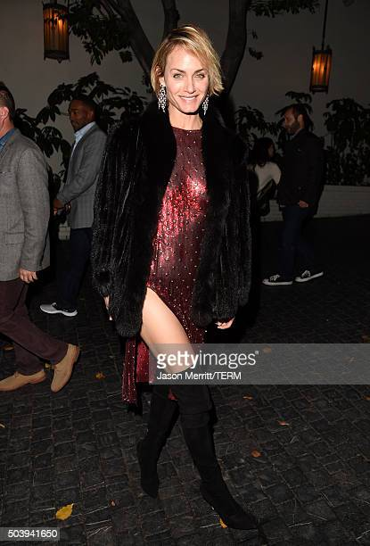 Actress Amber Valletta attends the W Magazine celebration of the 'Best Performances' Portfolio and The Golden Globes with Audi and Dom Perignon at...