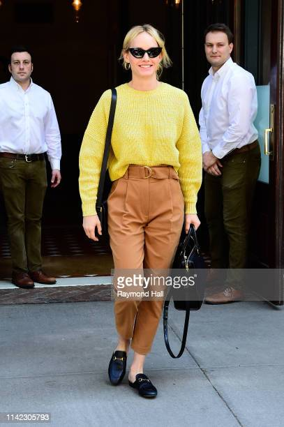 Actress Amber Valletta is seen walking in SoHo on May 8 2019 in New York City
