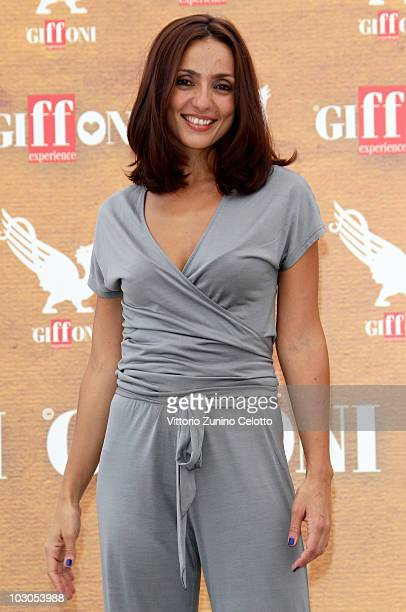 Actress Ambra Angiolini attends a photocall during Giffoni Experience 2010 on July 23 2010 in Giffoni Valle Piana Italy