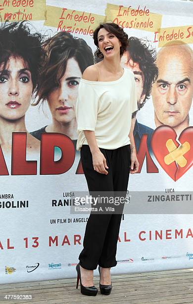 Actress Ambra Angiolini attends 'Maldamore' photocall at Villa Borghese on March 10 2014 in Rome Italy