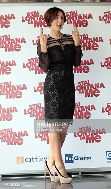 Actress Ambra Angiolini attends 'Stai Lontana Da me' photocall at Cinema Adriano on November 7 2013 in Rome Italy