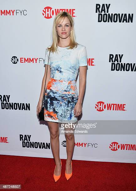 Actress Ambyr Childers arrives at Showtime's Ray Donovan special screening and panel discussion at the Leonard H Goldenson Theatre on April 28 2014...