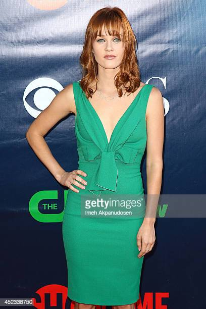 Actress Ambyr Childers attends the CBS The CW Showtime CBS Television Distribution's 2014 TCA Summer Press Tour Party at Pacific Design Center on...