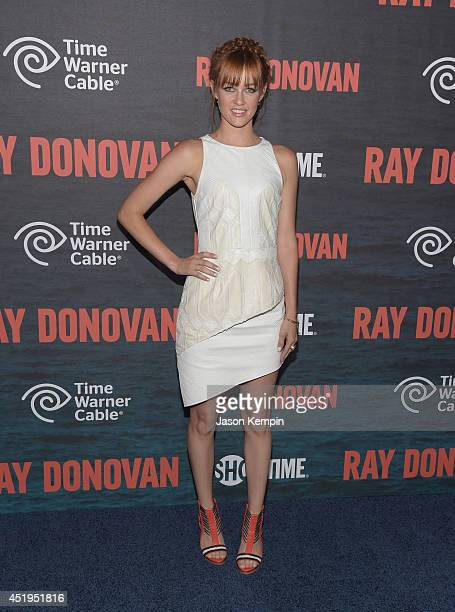 Actress Ambyr Childers attends the Season 2 Premiere Of Showtime's 'Ray Donovan' at Nobu Malibu on July 9 2014 in Malibu California
