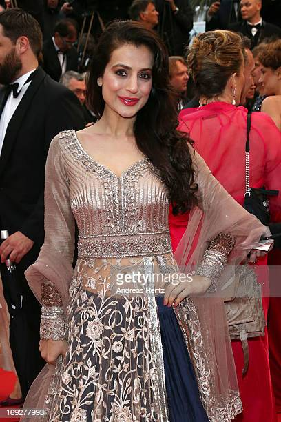 Actress Ameesha Patel attend the 'Shortcut Romeo' Premiere during the 66th Annual Cannes Film Festival at Palais des Festivals on May 22 2013 in...