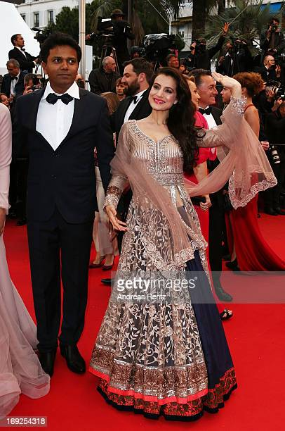 Actress Ameesha Patel attends the 'All Is Lost' Premiere during the 66th Annual Cannes Film Festival at Palais des Festivals on May 22 2013 in Cannes...