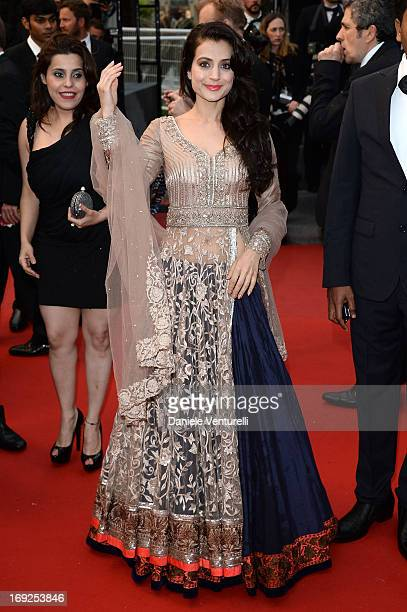 Actress Ameesha Patel attends the Premiere of 'Shortcut Romeo' during The 66th Annual Cannes Film Festival at the Palais des Festivals on May 22 2013...