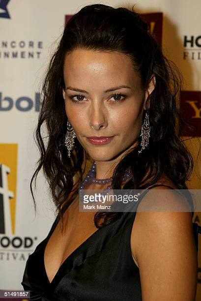 Actress Amelia Cooke attends the Hollywood Film Festival's closing night premiere of A Love Song For Bobby Long at the ArcLight Theatre October 17...