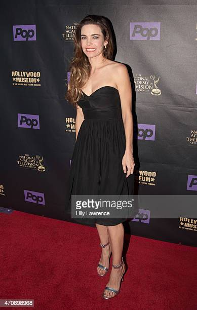 Actress Amelia Heinle arrives at the 2015 Daytime EMMY Awards Kick Off Celebration at The Hollywood Museum on April 21 2015 in Hollywood California