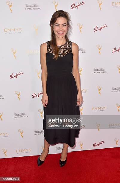 Actress Amelia Heinle attends a cocktail reception hosted by the Academy of Television Arts Sciences celebrating the Daytime Peer Group at Montage...