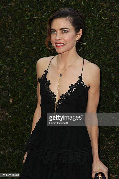 Actress Amelia Heinle attends the 2016 Daytime Creative Arts Emmy Awards Arrivals at Westin Bonaventure Hotel on April 29 2016 in Los Angeles...