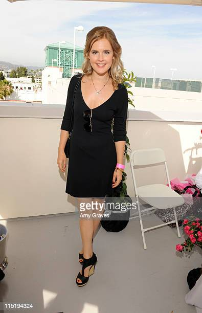 Actress Amelia Jackson Gray attends Melanie Segal's Red Cross Prepare LA Trend Lounge In Celebration of the MTV Movie Awards Day 1 at Luxe Hotel on...