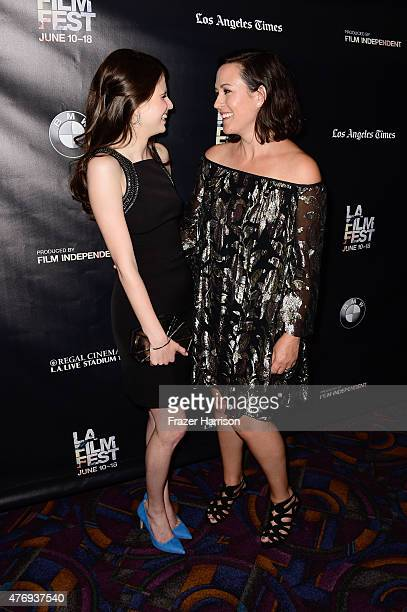Actress Amelia Rose Blaire and director Maggie Kiley attend the 'Caught' screening during the 2015 Los Angeles Film Festival at Regal Cinemas LA Live...