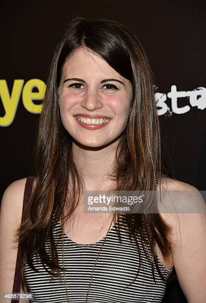 Actress Amelia Rose Blaire arrives at the Los Angeles premiere of 'Dial A Prayer' at the Landmark Theater on April 7 2015 in Los Angeles California