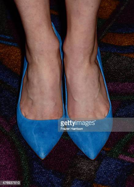 Actress Amelia Rose Blaire shoe detail attends the 'Caught' screening during the 2015 Los Angeles Film Festival at Regal Cinemas LA Live on June 12...