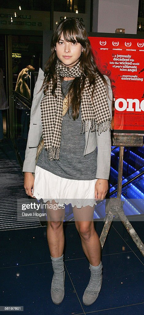 Actress Amelia Warner arrives at the UK Premiere of 'Stoned' at the Apollo West End Cinema on November 17, 2005 in London, England. The British film chronicles the life and death of Rolling Stones co-founder Brian Jones, found drowned just weeks after being let go from the band.