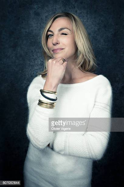 Actress Amelie Etasse is photographed for Self Assignment on January 13, 2016 in Alpe d'Huez, France.