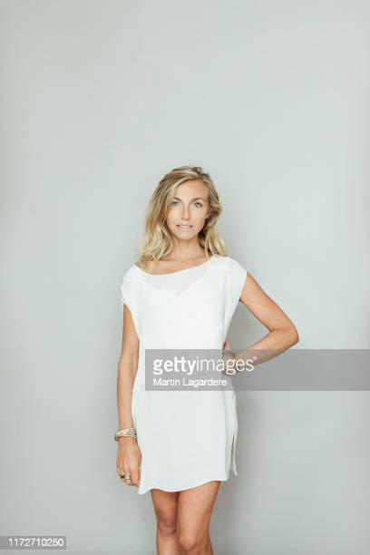 Actress Amelie Etasse poses for a portrait on September 7, 2018 in Paris, France.