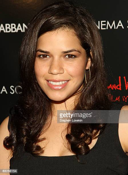 Actress America Ferrara attends a screening of Filth and Wisdom hosted by The Cinema Society and Dolce and Gabbana at the IFC Center on October 13...