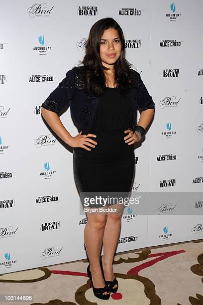 Actress America Ferrara attends the special screening of The Disappearance of Alice Creed hosted by Anchor Bay Films at Crosby Street Hotel on July...
