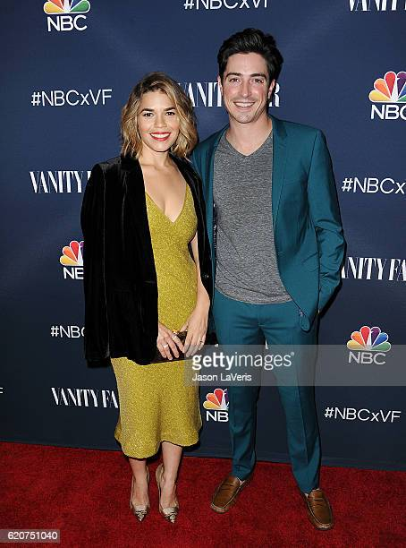 Actress America Ferrera and actor Ben Feldman attend the NBC and Vanity Fair toast to the 20162017 TV season at NeueHouse Hollywood on November 2...