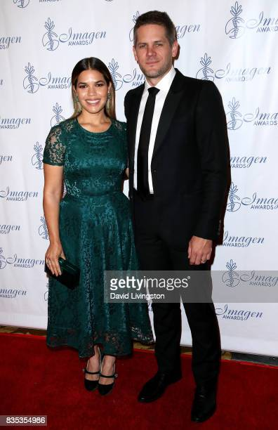 Actress America Ferrera and actor Ryan Piers Williams attend the 32nd Annual Imagen Awards at the Beverly Wilshire Four Seasons Hotel on August 18...