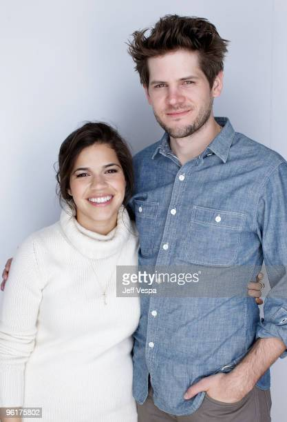 Actress America Ferrera and director Ryan Piers Williams pose for a portrait during the 2010 Sundance Film Festival held at the WireImage Portrait...