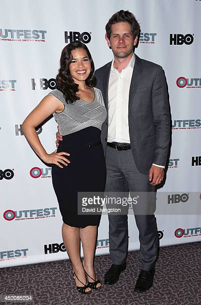 Actress America Ferrera and husband actor/director Ryan Piers Williams attend the 2014 Outfest Los Angeles screening of 'X/Y' at the Directors Guild...