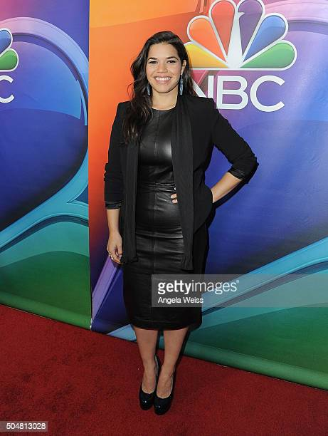 Actress America Ferrera arrives at the 2016 Winter TCA Tour NBCUniversal Press Tour at Langham Hotel on January 13 2016 in Pasadena California