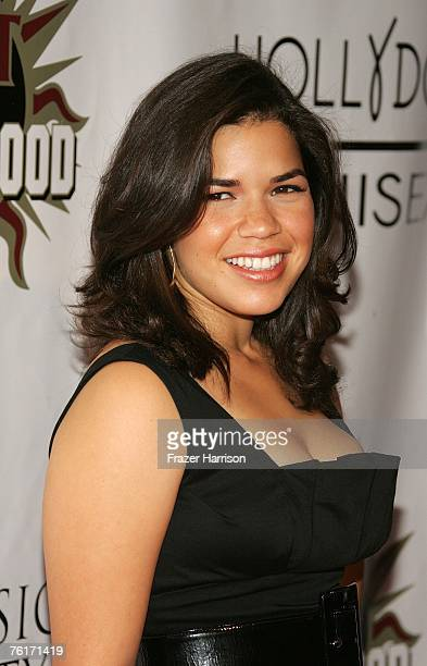 Actress America Ferrera arrives at the 2nd Annual Hot In Hollywood event held at the Henry Fonda Music Box Theatre on August 18 2007 in Los Angeles...
