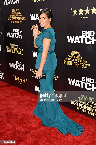Actress America Ferrera arrives at the premiere of Open Road Films' End of Watch at Regal Cinemas LA Live on September 17 2012 in Los Angeles...