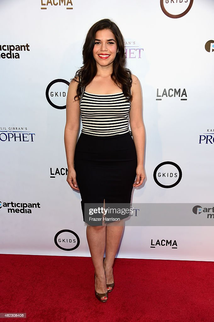 Actress America Ferrera arrives at the Screening of GKIDS' 'Kahlil Gibran's The Prophet' at Bing Theatre At LACMA on July 29, 2015 in Los Angeles, California.