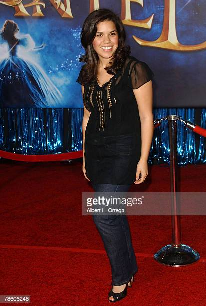 """Actress America Ferrera arrives at the World Premiere of Walt Disney Pictures' """"Enchanted"""" held at the El Capitan Theater on November 17, 2007 in..."""