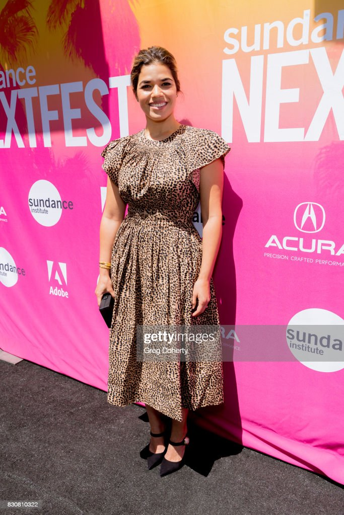Actress America Ferrera arrives for the 2017 Sundance NEXT FEST at The Theater at The Ace Hotel on August 12, 2017 in Los Angeles, California.
