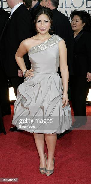 Actress America Ferrera arrives for the 66th Annual Golden Globe Awards in Beverly Hills California US on Sunday Jan 11 2009 Heath Ledger received a...