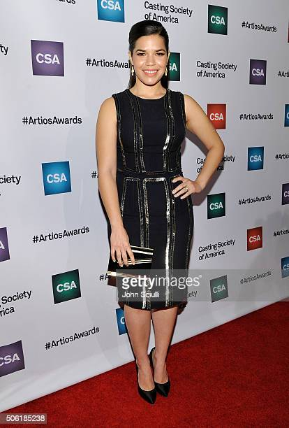 Actress America Ferrera arrives for the Casting Society of America's 31st Annual Artios Awards at The Beverly Hilton Hotel on January 21 2016 in...