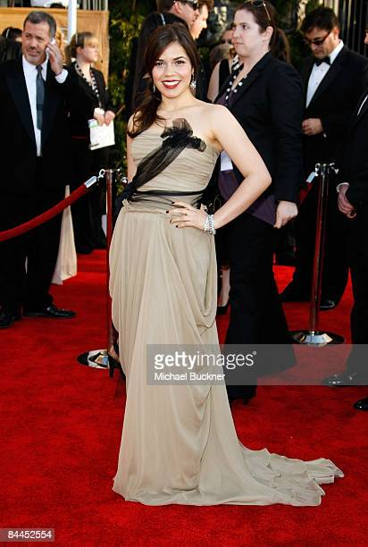 Actress America Ferrera arrives to the TNT/TBS broadcast of the 15th Annual Screen Actors Guild Awards at the Shrine Auditorium on January 25, 2009...