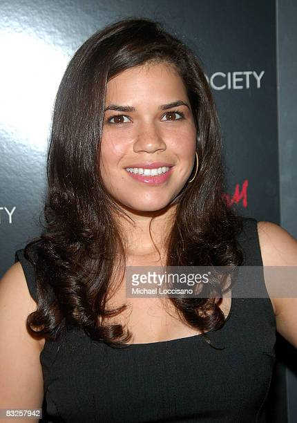Actress America Ferrera attends a screening of Filth and Wisdom hosted by The Cinema Society and Dolce and Gabbana at the IFC Center on October 13...