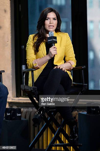 Actress America Ferrera attends AOL BUILD Speaker Series at AOL Studios In New York on February 24 2015 in New York City