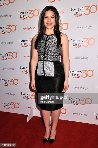 Actress America Ferrera attends EMILY's List 30th Anniversary Gala at Washington Hilton on March 3 2015 in Washington DC