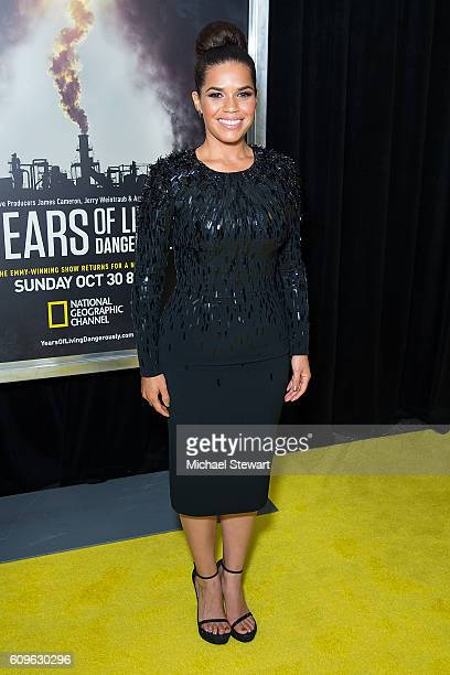 Actress America Ferrera attends National Geographic's 'Years Of Living Dangerously' new season world premiere at American Museum of Natural History...