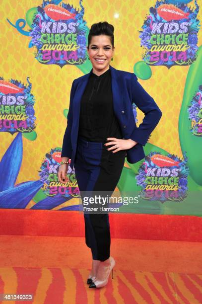 Actress America Ferrera attends Nickelodeon's 27th Annual Kids' Choice Awards held at USC Galen Center on March 29 2014 in Los Angeles California