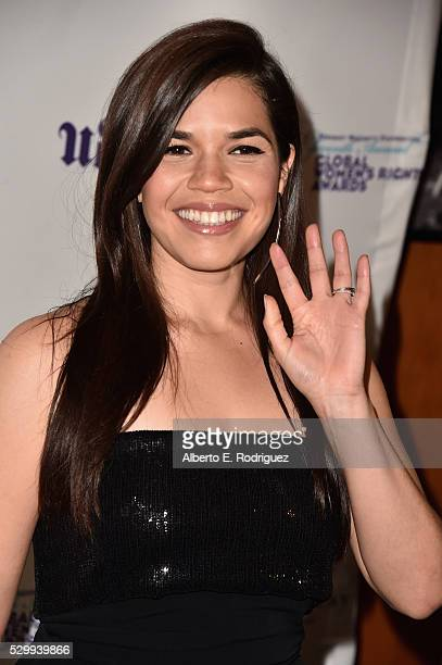 Actress America Ferrera attends the 11th Annual Global Women's Rights Awards at the Directors Guild of America on May 09 2016 in Los Angeles...