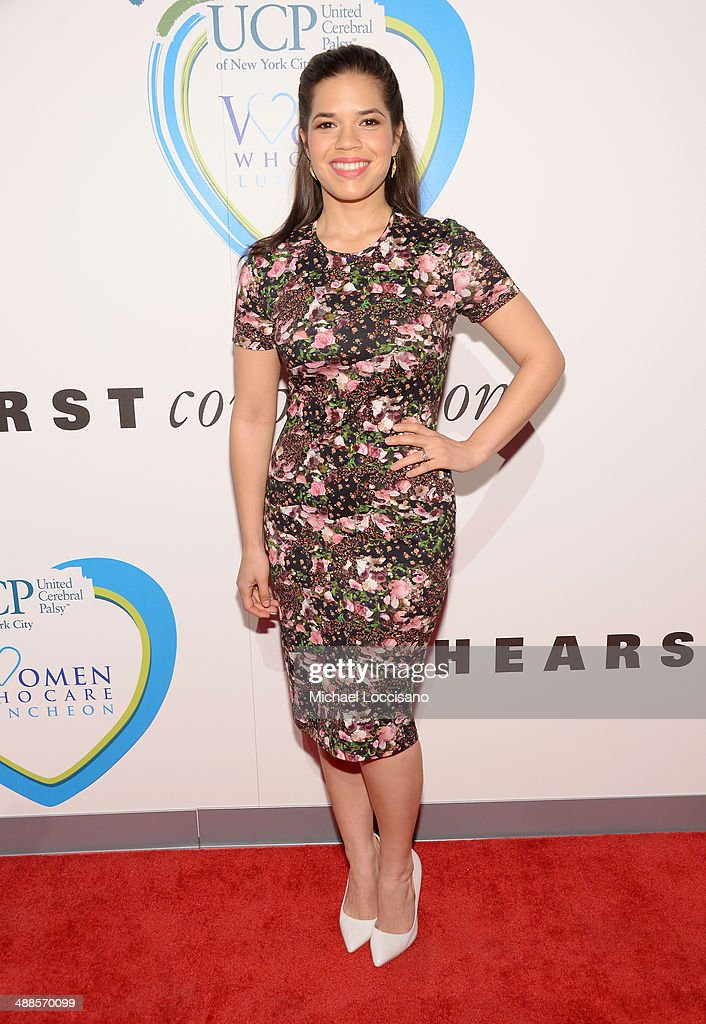 Actress America Ferrera attends the 13th annual Women Who Care event benefiting United Cerebral Palsy of New York City at Cipriani 42nd Street on May 7, 2014 in New York City.