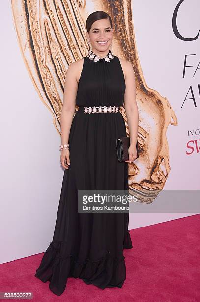 Actress America Ferrera attends the 2016 CFDA Fashion Awards at the Hammerstein Ballroom on June 6, 2016 in New York City.