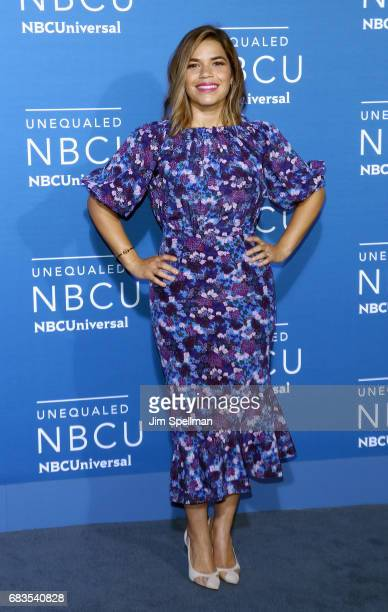 Actress America Ferrera attends the 2017 NBCUniversal Upfront at Radio City Music Hall on May 15 2017 in New York City