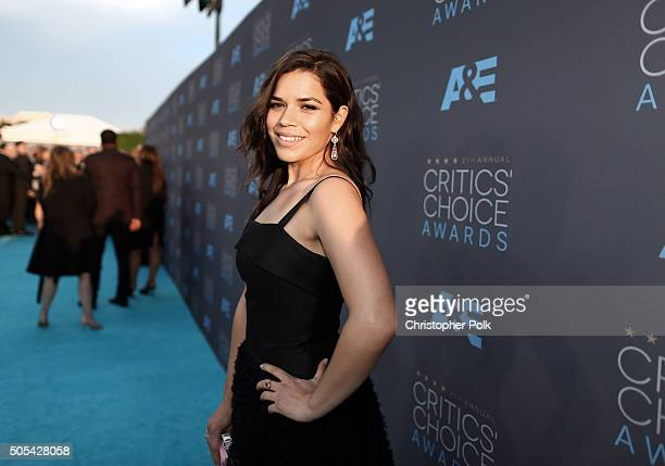 Actress America Ferrera attends the 21st Annual Critics' Choice Awards at Barker Hangar on January 17 2016 in Santa Monica California