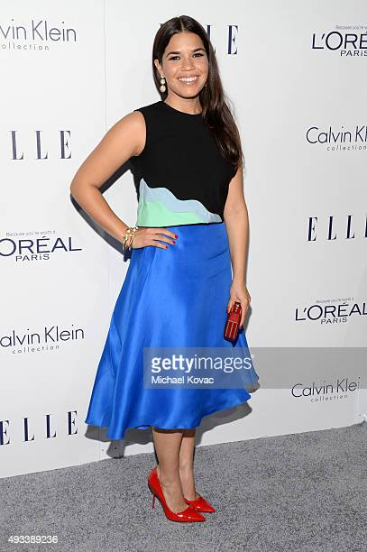Actress America Ferrera attends the 22nd Annual ELLE Women in Hollywood Awards at Four Seasons Hotel Los Angeles at Beverly Hills on October 19 2015...